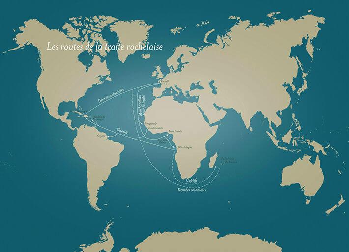 Les routes de la traite rochelaise