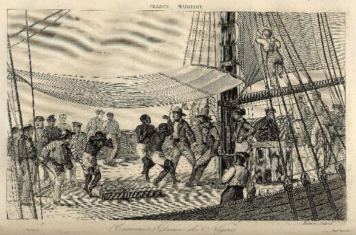 Captifs dansant sous la contrainte durant la traversée