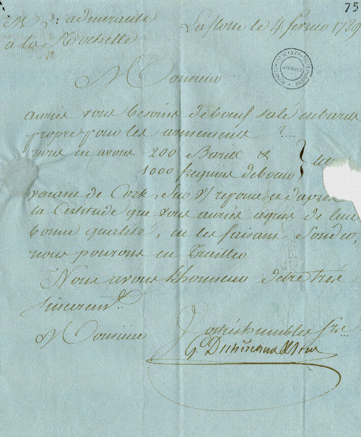 Lettre de MM. Dechézeaux et Lem