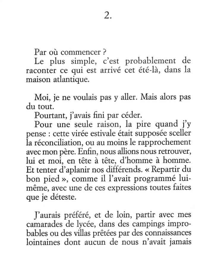 Philippe Besson - La maison atlantique - Editions Juillard - 2