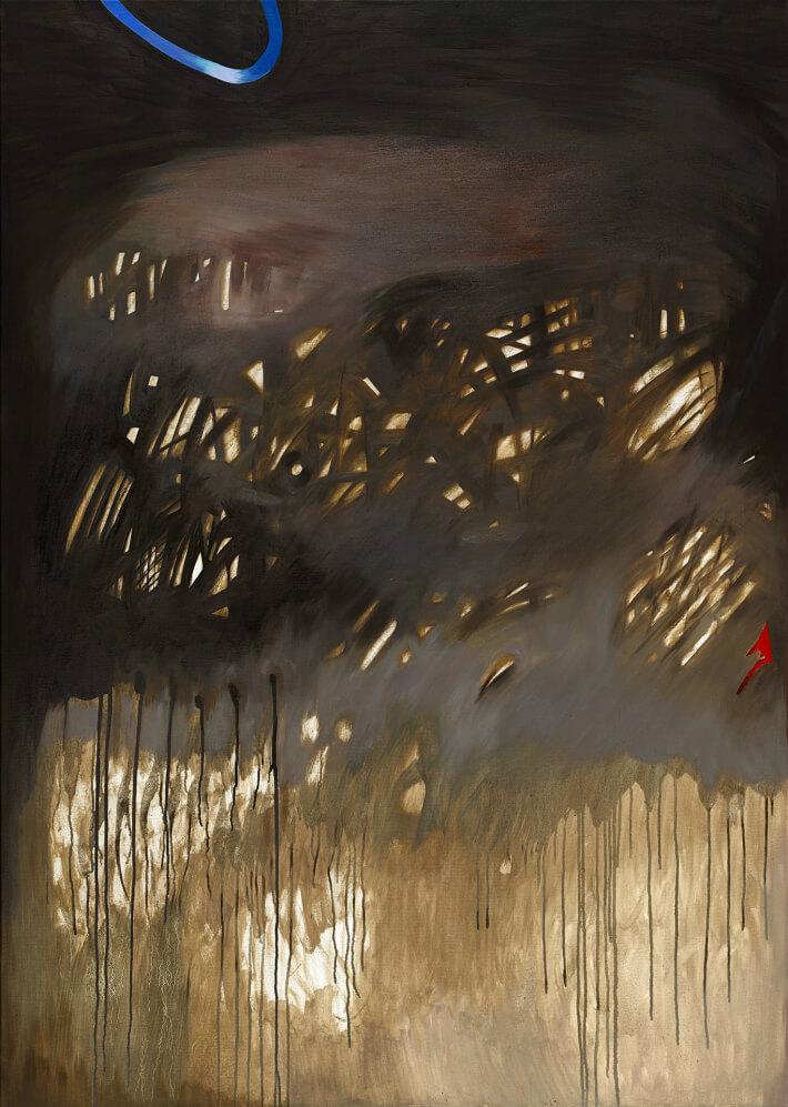 Margot SOKOLOWSKA - Des hautes eaux - Huile sur toile - 100 x 140 cm