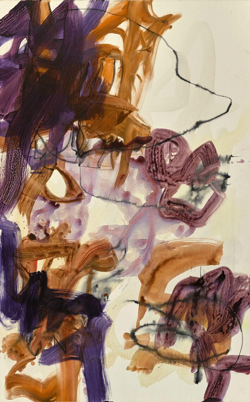 Anne ZABLOT - NIPAHËM - Acrylique, fusain sur toile - 81 x 130 cm