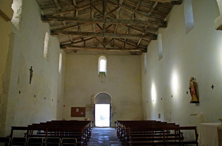 Église de Sainte-Radegonde - Nef charpentée - 2009
