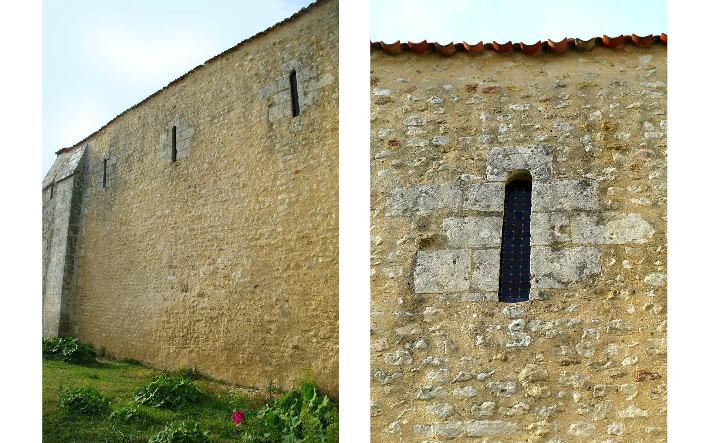 Église de Saint-Laurent-de-la-Prée - Fenêtres à linteaux monolithes et faux claveaux gravés - 2010