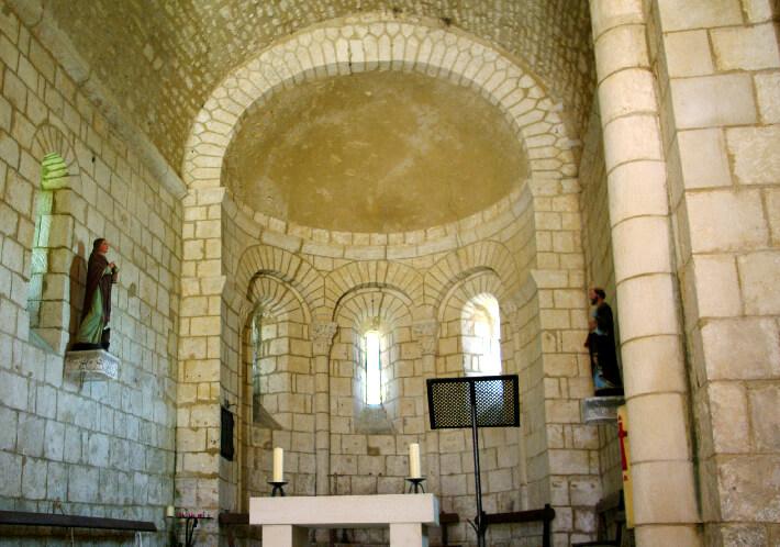 Église Saint-André d'Annepont - Voûte en cul-de-four sur l'abside - 2014