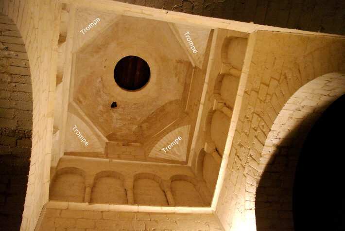 Église Saint-Vivien de Geay - Coupole sur trompes - 2010