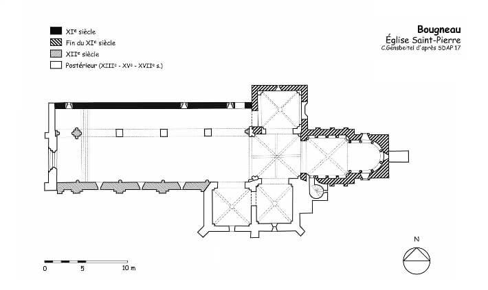Église Saint-Pierre-de-Bougneau - Plan