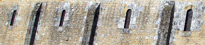 Église de Sainte-Radegonde - Nef du premier art roman - 2009