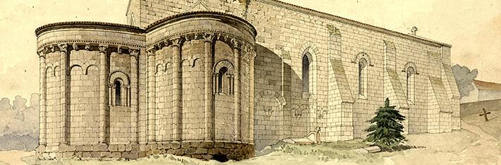 Église Saint-Sulpice de Marignac - Vue perspective prise du nord-est - 1895 - Nodet, Henri - N°010333 - 0082/017/2007 - ©  Ministère de la Culture - Médiathèque de l'Architecture et du Patrimoine