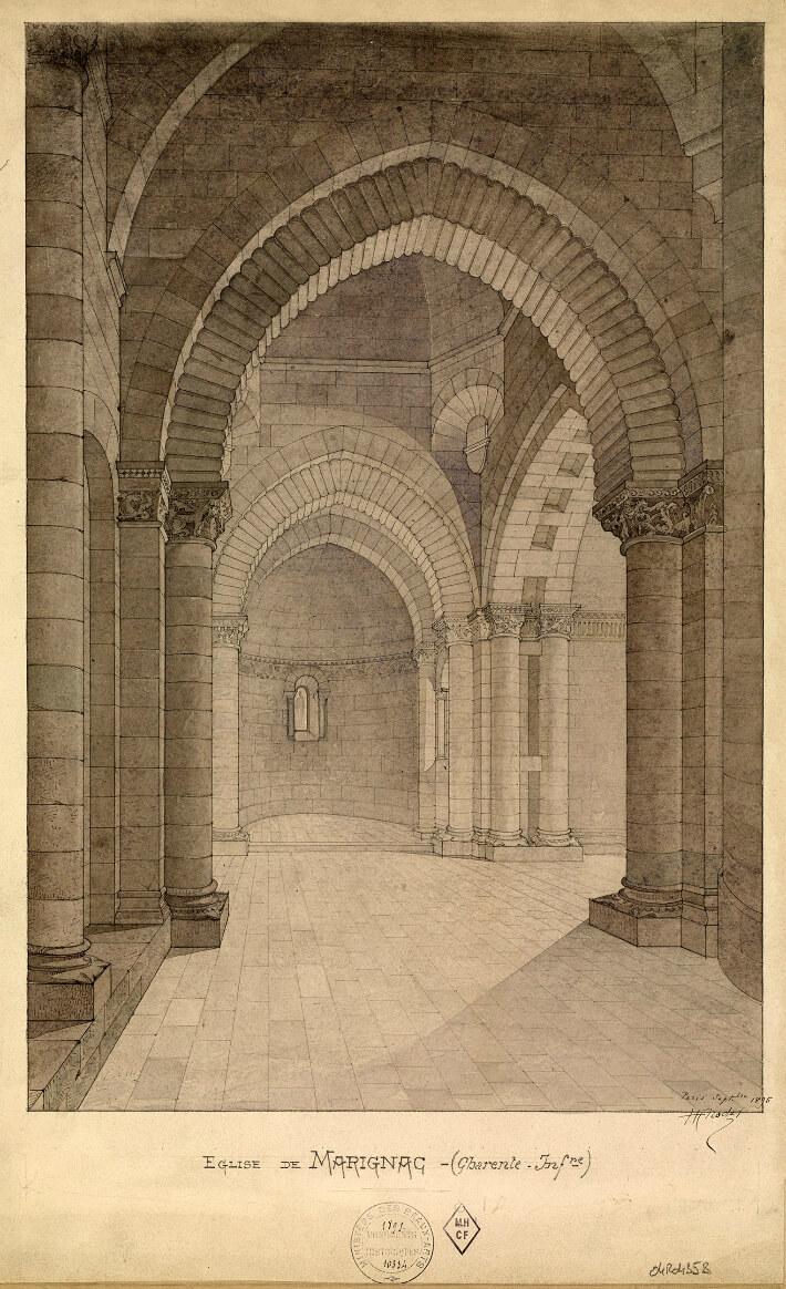 Église Saint-Sulpice de Marignac - Vue de l'intérieur -1895 - Nodet, Henri - N°010334 - 0082/017/2007 - © Ministère de la Culture - Médiathèque de l'Architecture et du Patrimoine