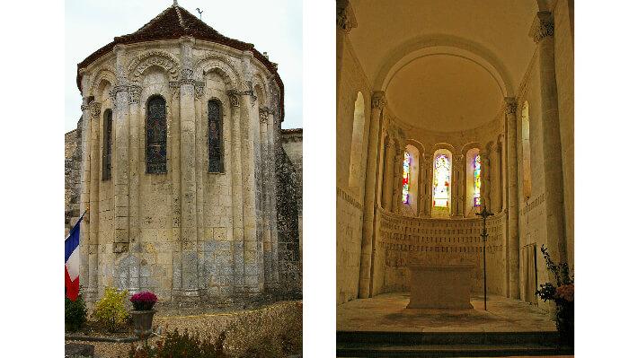 Église Saint-Sauveur de Jarnac-Champagne - extérieur et Intérieur du chevet - 2007
