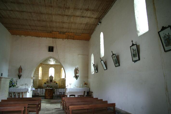 Église Saint-Blaise de Givrezac - Nef charpentée et plafonnée - 2009