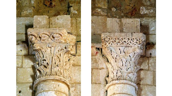 Église Notre-Dame de Thézac - Chapiteaux corinthiens de l'abside - 2011