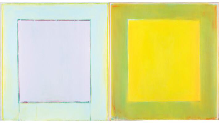 Sans titre - Peinture à l'huile sur toile // Diptyque, 260 x 140 cm