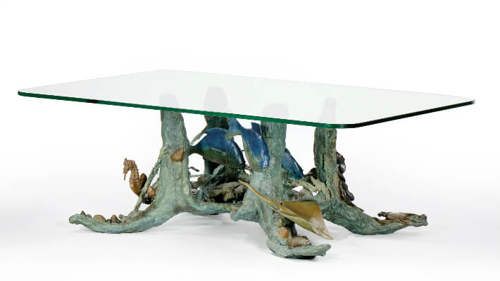 Table basse fond marin - Bronze N°1/8 Fonderie Landowski // 150 x 80 cm