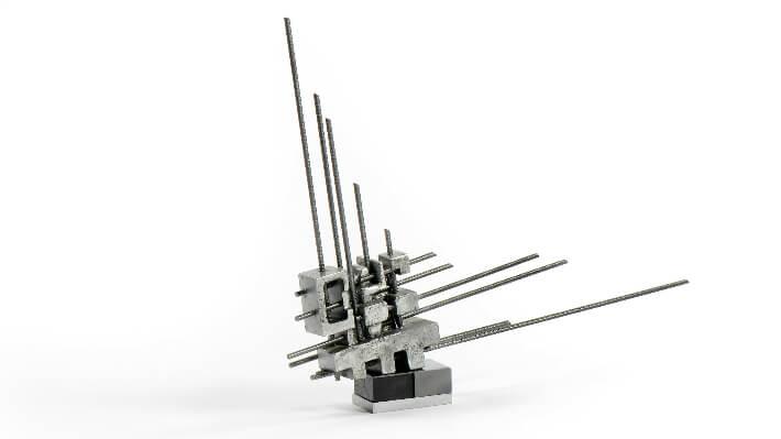 Suprémus # 9 - Staff et acier // 69 x 75 cm