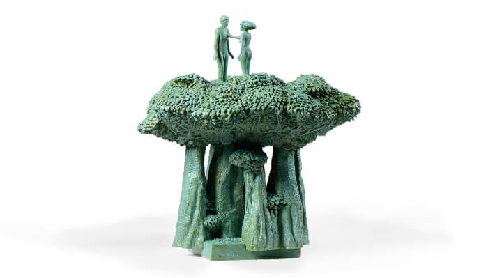 La canopée - Plâtre (chef-modèle du bronze) // 41 x 45 x 45(H) cm