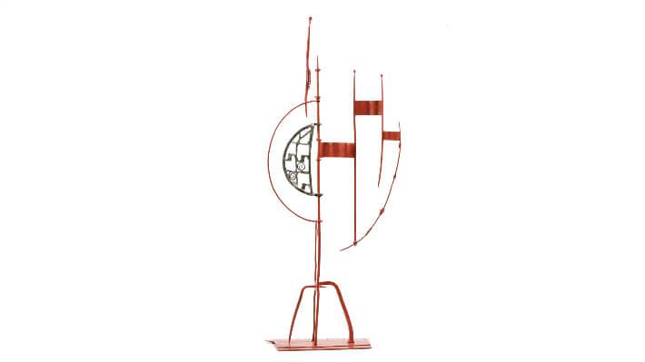 Pélican - Acier forgé, peinture, pigments // 90 x 40 x 223(H) cm