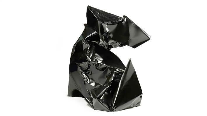 Blackhaos n°5 - Tôles froissées // 170 x 150 x 130 cm
