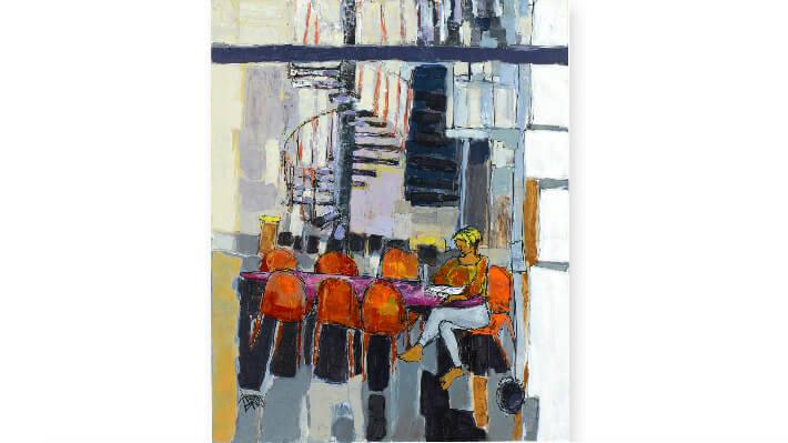Hommage à Louise Bourgeois - Technique mixte sur toile // 81 x 100 cm