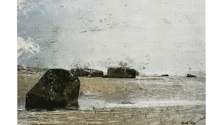 Les Blockhaus de la côte sauvage - Technique mixte sur dibond // 80 x 54 cm