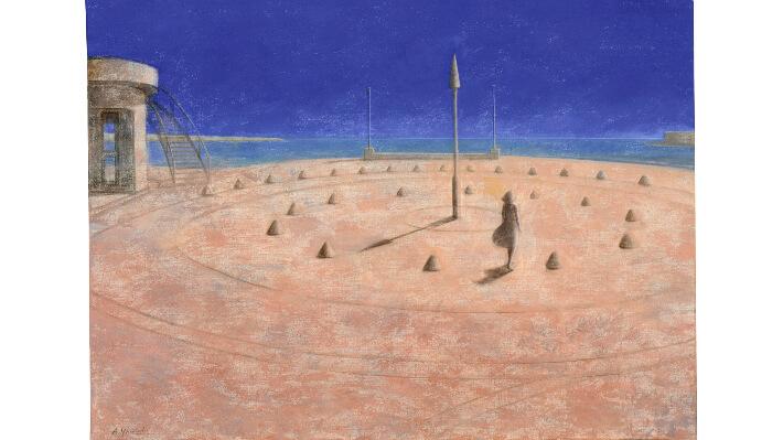 Cadran solaire - Acrylique sur toile // 100 x 73 cm