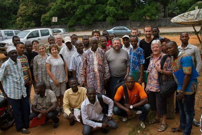 Animateurs du GRENPAH avec la délégation de CMC - © Jean-Claude Perrinaud - 2016