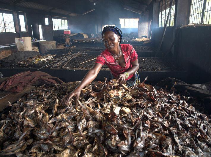 Fumeuse de poissons, Guinée - © Pierrot Men - 2017