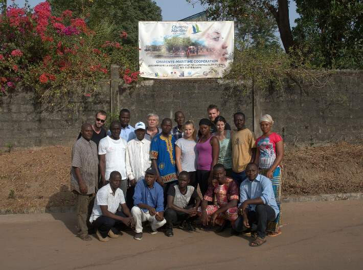 L'équipe de Charente-Maritime Coopération, Guinée - © Pierrot Men - 2017