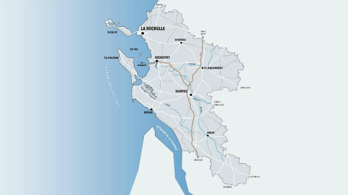 Le département de la Charente-Maritime - © Dépt17 - 2017