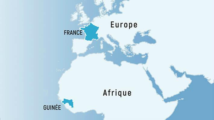 Situation France et Guinée - © Dépt17 - 2017