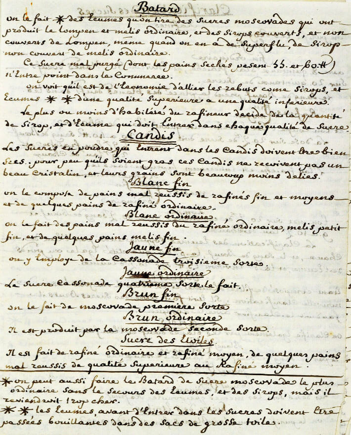 Document à usage des raffineurs de sucre