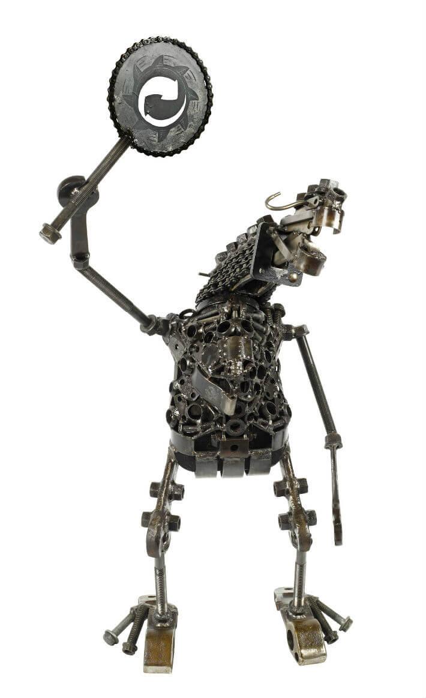 PDM 2012 - sculpture -  Délégué du syndicat « rouillé mais pas à jeter » - TRAASH.