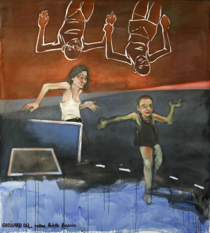PDM 2012 - Lauréat - Jackie GROISARD - Au bord du monde - 1er Prix de peinture
