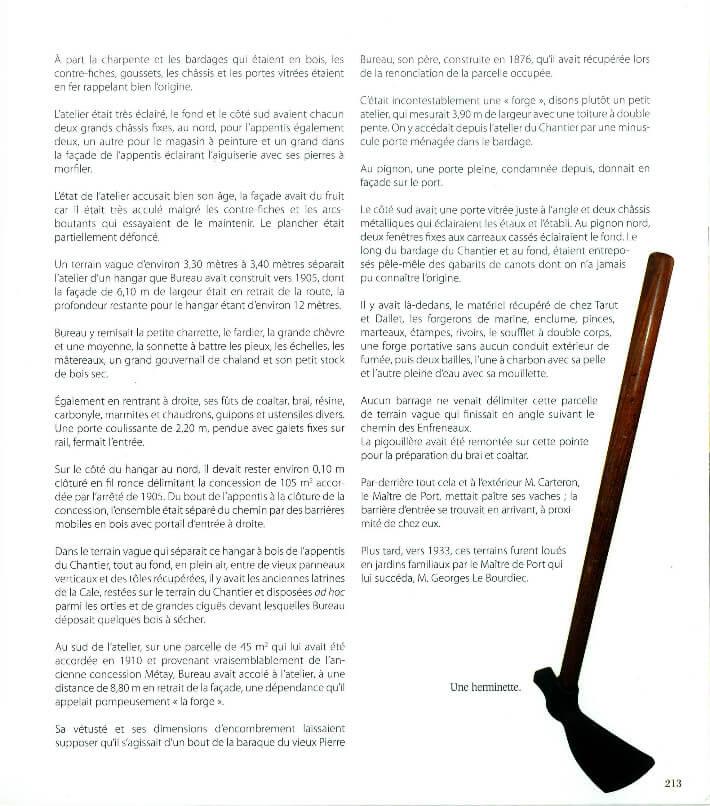 René DURAND - Daniel BOURDU - Guy BARDOT - Quatre générations de charpentiers de bateaux - p213 - PDM 2013