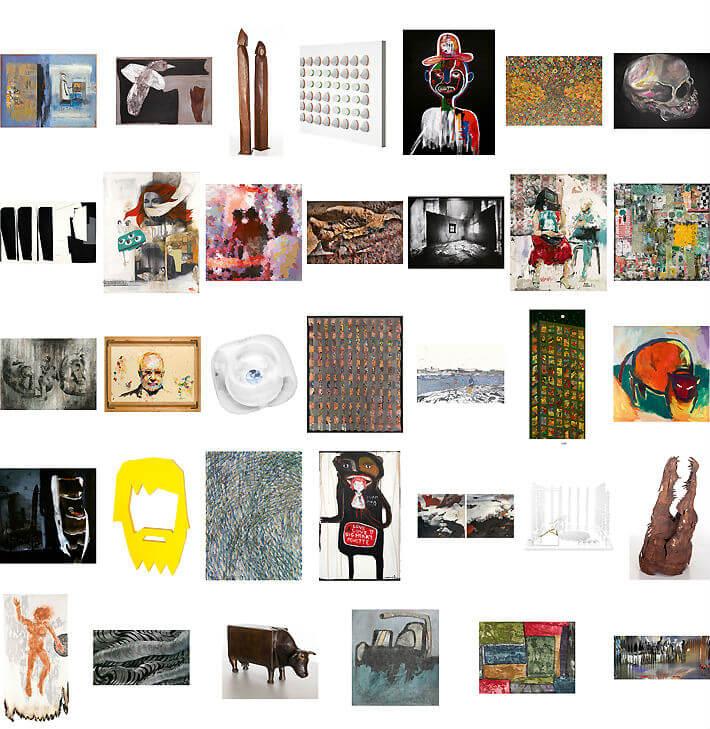 Mosaique artistes sélectionnés