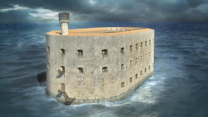 Vue 3D de Fort Boyard 2013
