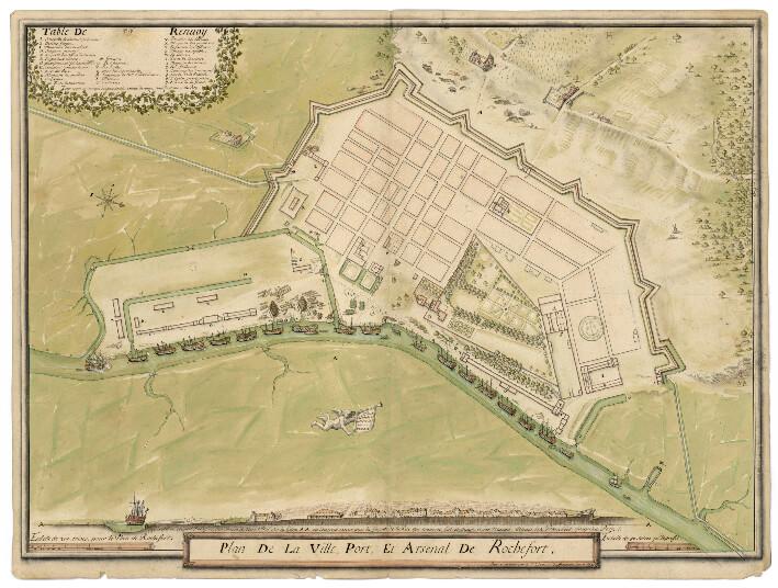 Plan de 1677 - Rochefort 10 ans après sa fondation