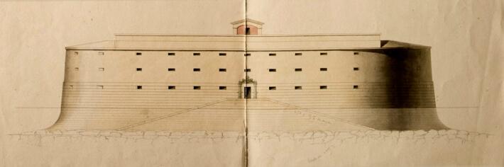Le premier fort Boyard -  Plan de 1802