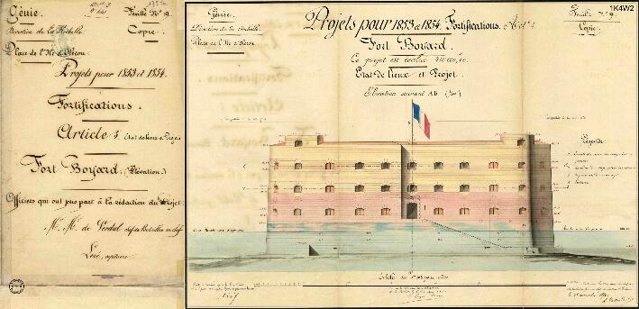 Le nouveau fort Boyard - Dessin 1852