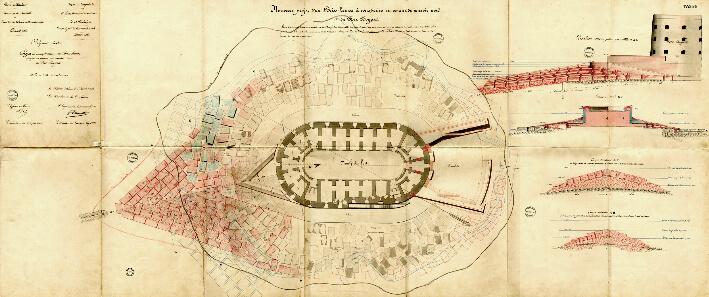 Projet de brise-lame  -  Plan de 1863