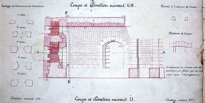 Un fort de maçons - plan 1850 - 1852