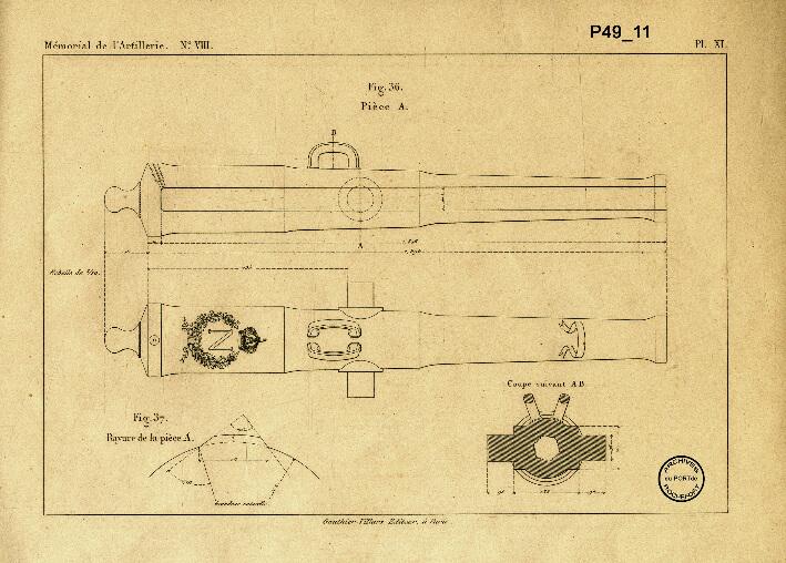 Les premiers canons rayés - Plan de 1867