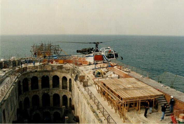 Travaux sur le fort en 1995