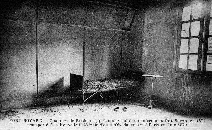 Une vedette en prison : Henri Rochefort à Boyard en 1871