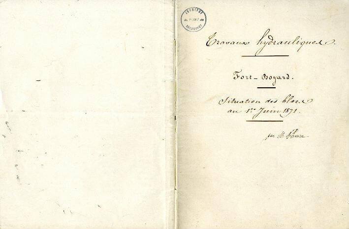 Situation des blocs au 1er janvier 1871 - 1/3
