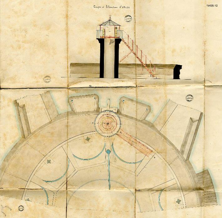 Des travaux à la vigie - plan 1882