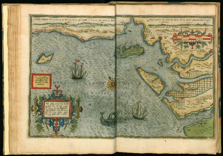 Carte des côtes charentaises en 1590