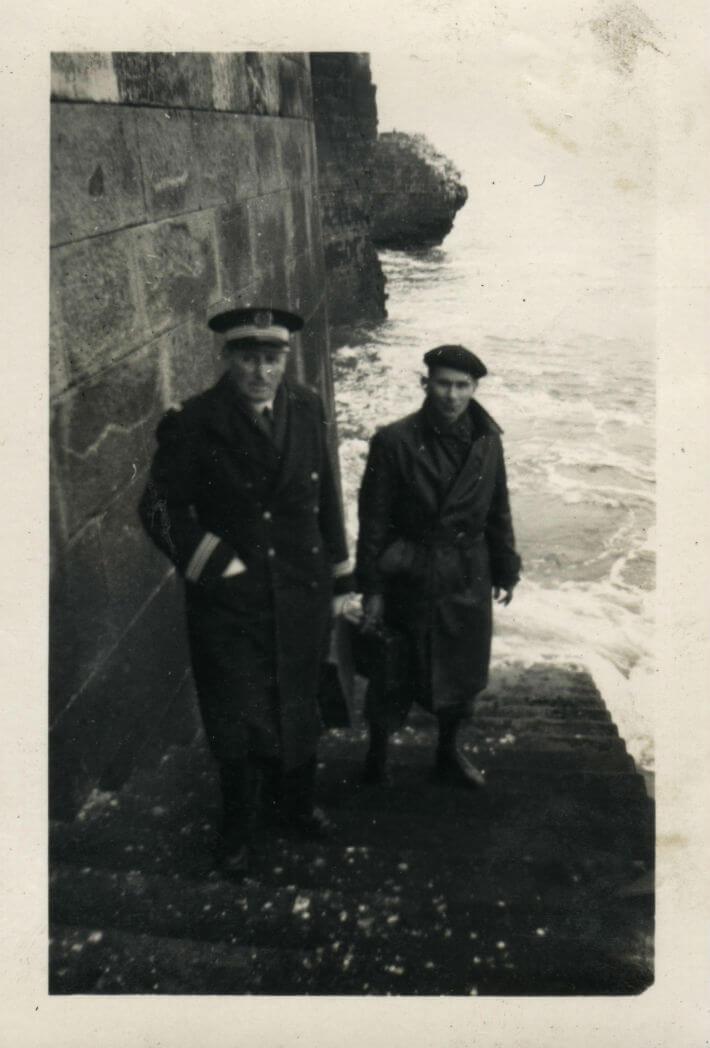 Boyard après-guerre : l'escalier d'accès