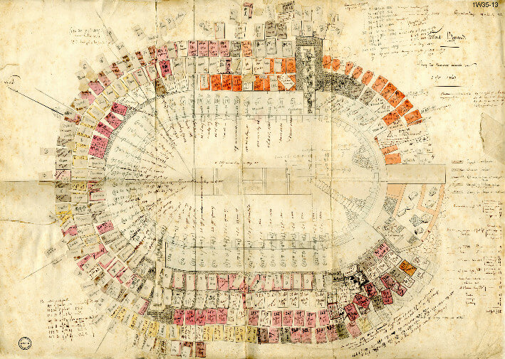 Une affaire de blocs et de précision - plan de 1849.